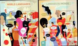 UN , 2019, WORLD LANGUAGES,  3 SHEETLETS - Languages