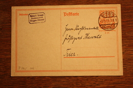 ( 2873 ) Ganzsache Deutsches Reich P  141 I  Gelaufen  -   Erhaltung Siehe Bild - Deutschland