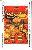 PERU(Tamura) - Manto De Paracas/Ica(0004), Telefonica Telecard, First Issue 105 Units, Tirage 10000, 10/95, Used - Peru