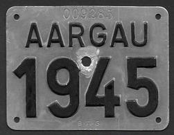 Velonummer Aargau AG 45 - Number Plates