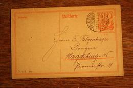 ( 2874 ) Ganzsache Deutsches Reich P  141 I  Gelaufen  -   Erhaltung Siehe Bild - Deutschland