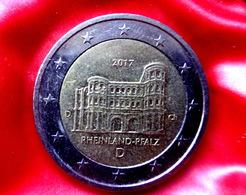 Germany 2 Euro  -  D  -- 2017 Rheinland-Pfalz Porta Nigra   Coin CIRCULATED - Allemagne