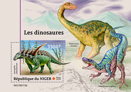 NIGER 2019 - Dinosaurs S/S. Official Issue - Postzegels