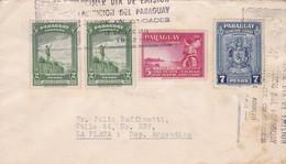 ENVELOPPE CIRCULEE PARAGUAY A LA PLATA(ARGENTINE) YEAR 1942 RECOMMANDEE BANDELETA PARLANTE - BLEUP - Paraguay