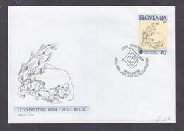 Slovenia 1994 The International Year Of The Family FDC - Slovénie