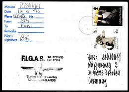 ANTARCTIC, FALKLAND, Port Stanley,12.9.1996, FIGAS-Passenger-Flight, Sign Pilot + Cachet !! Look Scan 11.2-24 - Territoire Antarctique Britannique  (BAT)