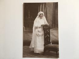 Foto Photo AK Madschen Fille Communion 1923 Photographie E Lang Montreuil Seine - Christentum