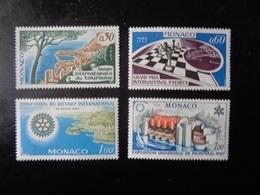 MONACO   1967   N°723-724-726-727   NEUF**   à  20% - Unused Stamps