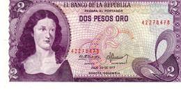 Colombia P.413   2 Peso 1977 Unc - Colombia