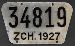Velonummer Zürich ZH 27 - Plaques D'immatriculation