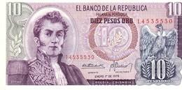 Colombia P.407 10 Pesos 1978 Unc - Colombie