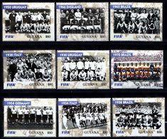 GUYANA  2004  Soccer Football  100 Years Of FIFA, World  Champions 1930-1970,  9v. Perf. - Football