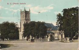 1910 Card RC Church Ambala 1a Stamp Sg123 Cantonment CDS - India