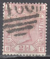 Great Britain 1873 - Queen Victoria, 2½d - Mi.40 Plate 2 - Wmk 9 - Anchor - Used - Oblitérés