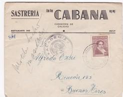 SASTRERIA CABANA-ENVELOPPE CIRCULEE 1949 JUJUY A BUENOS AIRES, ARGENTINE, FULL CONTENT INSIDE - BLEUP - Argentinien