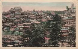 1910 Card Simla From Bazaar 1a Stamp Sg123 Cantonment CDS - India