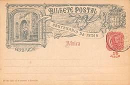 Bilhete Postal - Centenario Da India 1498-1898 10 Reis 1898 - Entiers Postaux