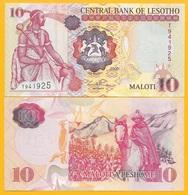 Lesotho 10 Maloti P-15d 2006 UNC Banknote - Lesotho
