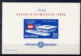 ROUMANIE   Timbre Neuf ** De 1963 ( Ref 6373 )  Sport - JO - Blocs-feuillets