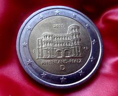 Germany 2 Euro  -  J  -- 2017 Rheinland-Pfalz Porta Nigra   Coin CIRCULATED - Deutschland