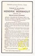 DP NL Sluis Zeeland - Hendrik Mornhout ° Schoondijke 1867 † IJzendijke 1945 X Maria L. Dinnewet - Images Religieuses