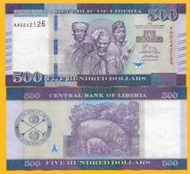 Liberia 500 Dollars P-36 2016 UNC Banknote - Liberia