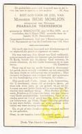 DP Gemeentesecretaris Remi Morlion ° Bikschote 1878 † 1942 X P. Vermeersch / Langemark-Poelkapelle - Images Religieuses