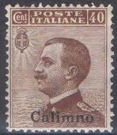 C012) V.E.II EGEO CALINO 1912 - 40 CENT. NUOVO MNH** - Egeo (Calino)