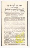 DP Louis L. Mollet ° Oostende 1882 † 1944 X M. Deprez Xx S. Verdonck - Images Religieuses
