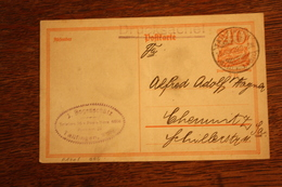 ( 2883 ) Ganzsache Deutsches Reich P  141 I  Gelaufen Als Drucksache 22 -   Erhaltung Siehe Bild - Deutschland