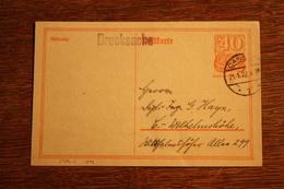 ( 2884 ) Ganzsache Deutsches Reich P  141 I  Gelaufen Als Drucksache 22 -   Erhaltung Siehe Bild - Deutschland