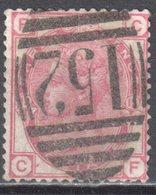 Great Britain 1873 - Queen Victoria, 3d - Mi.41 Plate 12 - Wmk 6 - Rose - Used - Oblitérés