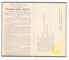 DP Germaine Esther Molle ° Dinant 1895 † Ieper 1946 X Paul Snoeck / Baude Raveschot Verkinderen Lesire Verbrughe - Images Religieuses