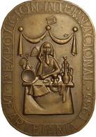 ESPAÑA. MEDALLA 1ª EXPOSICIÓN INTERNACIONAL DE ARTESANÍA. MADRID 1.953. C/ CAJA ORIGINAL. ESPAGNE. SPAIN MEDAL - Profesionales/De Sociedad