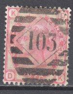 Great Britain 1873 - Queen Victoria, 3d - Mi.41 Plate 14 - Wmk 6 - Rose - Used - Oblitérés