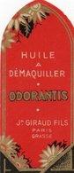 Etiquette Parfum Grasse Giraud Huile à Maquiller Odorantis - Etiketten