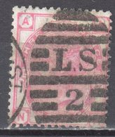 Great Britain 1873 - Queen Victoria, 3d - Mi.41 Plate 15 - Wmk 6 - Rose - Used - Oblitérés
