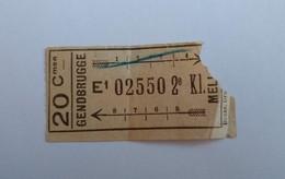 Tram Gendbrugge > Melle Billet Gand Gent Ticket Belgique - Tramways