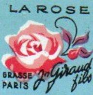 Etiquette Parfum Grasse Giraud Lot De 2 Jasmin Et Rose - Etiketten