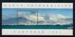 Islande // Mont Esja Journée Du Timbre 2001 Bloc-feuillet Timbre Neuf** MNH No. Y&T 29 - Blocs-feuillets