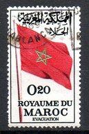 MAROC. N°470 Oblitéré De 1963. Drapeau Marocain. - Stamps