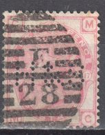 Great Britain 1873 - Queen Victoria, 3d - Mi.41 Plate 17 - Perfin - Wmk 6 - Rose - Used - Oblitérés