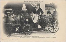 D60 - COMPIEGNE-L'EMPEREUR NICOLAS II    LE PRESIDENT DE LA REPUBLIQUE DESCENDANT DE LANDAU A LA GARE DE COMPIEGNE... - Compiegne