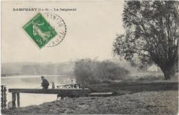 D77   - DAMPMART - LA BAIGNADE - Pêcheur Avec Un Chien - Barque - Autres Communes
