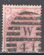 Great Britain 1873 - Queen Victoria, 3d - Mi.41 Plate 18 - Wmk 6 - Rose - Used - Oblitérés