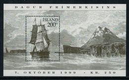 Islande 1999 // Journée Du Timbre 1999,Navire Danois Bloc-feuillet Timbre Neuf** MNH No. Y&T 24 - Blocs-feuillets