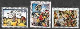 Tchad PA N°65, 73, 74 Art Peinture Tableau 1970 ** - Tchad (1960-...)