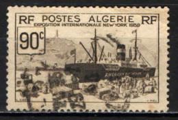 ALGERIA - 1939 - ESPOSIZIONE INTERNAZIONALE DI NEW YORK - NAVE CARGO - USATO - Algeria (1924-1962)