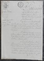 Préfet De L'Orne Autorisé Du Roi à Acheter Terrain à Mme De La Sicotière Rue Du Château Alençon Pour Préaux De La Prison - Manuscrits