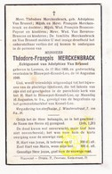 DP Theodore F. Merckenbrack ° Leuven 1868 † Blauwput Kessel-Lo 1948 X A. Van Brussel / Brancon Payeur Van Beveren - Images Religieuses